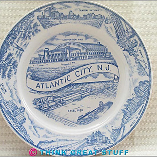 1940s Atlantic City NJ Souvenir Plate