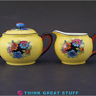 Noritake Sugar Bowl and Creamer
