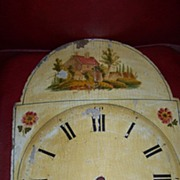 C 1830 Pennsylvania Painted Clock Dial with Easton Pa. Newspaper 1832