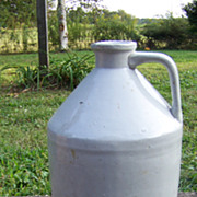 Primitive Early Whiskey or Syrup Jug with Pour Spout