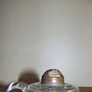 "Miniature Finger Oil Kerosene Lamp ""Empire"" with Applied Handle"