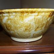 Nice Rockingham Glaze American Bowl Circa 1880