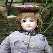 """14"""" Jumeau French Fashion Doll - Outstanding Antique Silk Dress - Wig/Shoes/Layaway!"""
