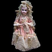 "18"" Knitter Automaton - Antique Jumeau Head- Layaway"