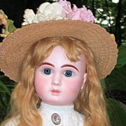 """HUGE 32"""" Steiner Fre A-20 Antique Doll Closed Mouth - Layaway - Head Repair"""