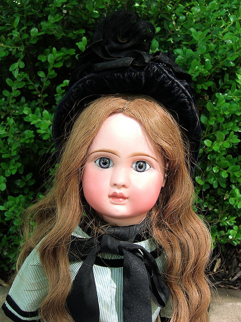 """Steiner 23"""" Antique Doll A-17 in Incredible Antique Dress - Layaway"""