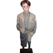"""35"""" Antique Doll Mannequin with FG Block Head - Original Boy's Outifit!  Layaway!"""
