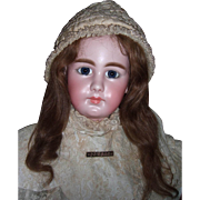 """RARE 32"""" Simon & Halbig Closed Mouth 949 Antique Doll - Layaway"""