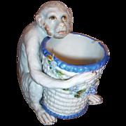 Antique Monkey - Figurine w/Bowl