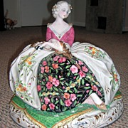 "HUGE 16 1/2"" Italian Porcelain Figurine"