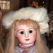 Antique Fur Muff & Hat for Larger Antique Doll (28-35)