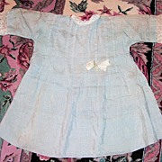 Antique Silk Doll Dress for Larger Doll