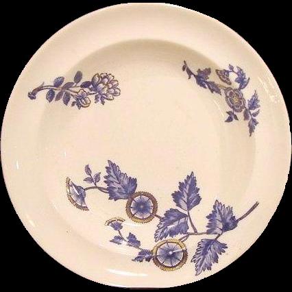 """(2) Serving Bowls- COPELAND FLOW BLUE - """"Ashburne"""" Pattern -1850-1867"""