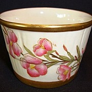 SALE Gorgeous English Porcelain Dish ~ Ivory with Pink Flowers ~ By Royal Worcester of England