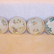 Wonderful Mixed Assortment of (4) Ironstone Butter Pats with Floral Designs ~ one is JG Meakin England 1907-1940