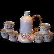 SALE Unique and Elegant, Bavarian Porcelain , ''Polite Society'' Ladies Bell Shaped Decanter a