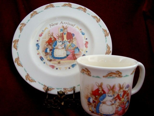 Royal Doulton China ~ New Arrival  ~Plate and Cup Set ~ Royal Doulton England copyright 1936