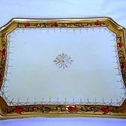 Beautiful Pickard Decorated Porcelain Tray ~ Tomascheko Poppy Border ~ Pickard Studios Chicago IL 1903-1905
