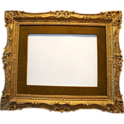 "SALE Gorgeous Antique Gilded Wood Picture Frame 23"" W  x 27"" L x 1 1/4"" D ~ Ear"