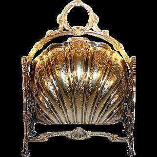 SALE Rare Silver Plate English Bun / Roll / Biscuit Warmer ~ 1893