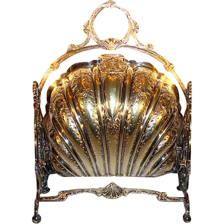 Rare Silver Plate English Bun / Roll / Biscuit Warmer ~ 1893