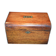 SALE Gorgeous Wooden Tea Caddy ~ Two Compartments ~ late 1800's