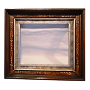 SALE Rich Walnut Eastlake Style Picture Frame
