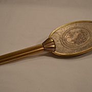 SALE Nice Art Nouveau Hair Brush ~Embossed Lady with Flowers ~ Early 1900's
