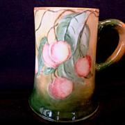 SALE Large Lenox Belleek Porcelain ~ Mug / Stein / Tankard ~ Hand Painted with a Wonderful Rip
