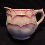 Nice Old Majolica Creamer with Flower Petal or Shell Design