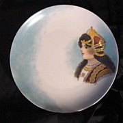 A Hand Painted Portrait Plate or Wall Plaque. This could be Queen Louise of Prussia. Rosenthal -1898-1906