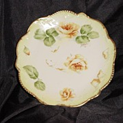 Limoges Plates Hand Painted, Signed Yellow  Roses – Latrille Freres ca 1908-1913