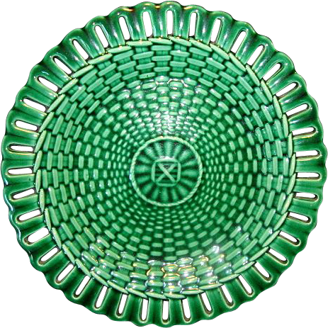 Superb English Majolica Plate with Reticulated Rim ~ Josiah Wedgwood ca 1880