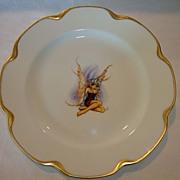 SALE UNIQUE Limoges Porcelain Cabinet Plate ~ Pixie or Fairy transfer ~ Haviland France 1894-1