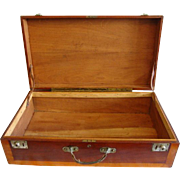 """SALE Fantastic LARGE 28"""" Hand Crafted Wooden Storage Chest /  Suitcase / Box ~ Mahogany a"""