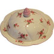 Shelley Bone China Muffin Holder Dish / Butter Dish ~ Rose Spray / Bridal Rose Pattern 13545~