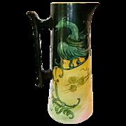 """SALE Fantastic 15"""" Belleek Tankard Hand Painted with Dragon and Berries ~ Willet Belleek  18"""