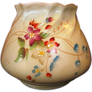 SALE Gorgeous English Squat Vase ~ Hand Painted with Magenta and Blue Flowers ~ 958 ~ Royal Wo