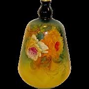 Fantastic Royal Bonn German Vase ~ Beautifully Shaped Earthenware ~ Yellow and White Roses ~ - Franz Anton Mehlem Earthenware Factory 1888-1920