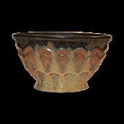 Wonderful Fulper Pillow Vase with Cats Eye Flambe Glaze and Zig Zag designs ~ Fulper Pottery Company 1910-1929