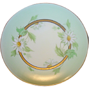 Beautiful Pickard Decorated Porcelain Cabinet Plate ~ Hand Painted with White Daisies ~ Artist Signed ~ Pickard Studios Chicago IL 1912-1918