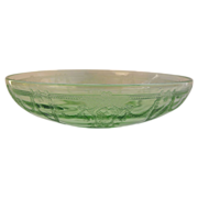 Large Anchor Hocking Green Cameo Ballerina Bowl