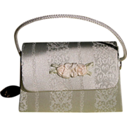 SALE Satin Doll Purse with Flowers Unused in Box