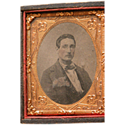SALE Tin Type Photograph of Gentleman for Dollhouse or Collecting
