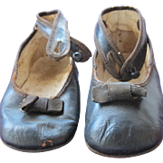 Baby Doll Shoes Leather with Ankle Straps