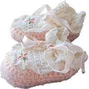 Doll Shoes Crocheted for Baby Small