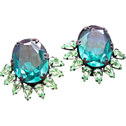 Rhinestone Earrings Green from X-Playboy Bunny