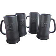 Playboy Club Mugs From X Playboy Bunny Provenance Four Beer Mugs