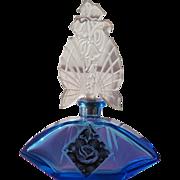 Czechoslovakian Perfume Bottle 1920 Blue Glass Karl Palda Marriage