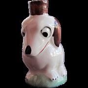 SALE Perfume Bottle Crown Top Figural of Porcelain Dog